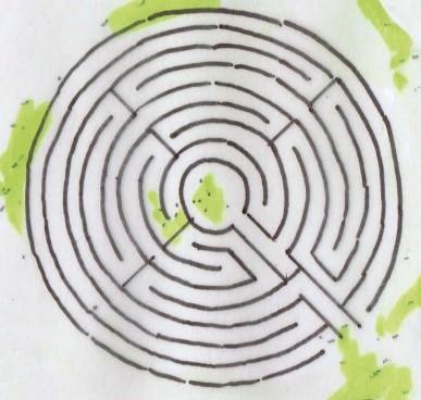 labyrint-schets